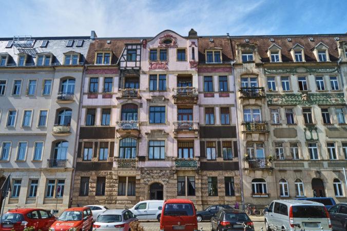Mietshäuser auf der Bundschuhstraße