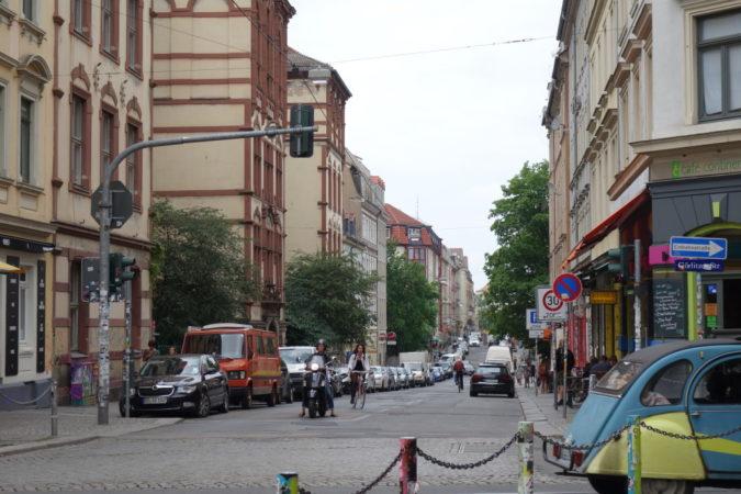 Ein Blick die Louisenstraße entlang.