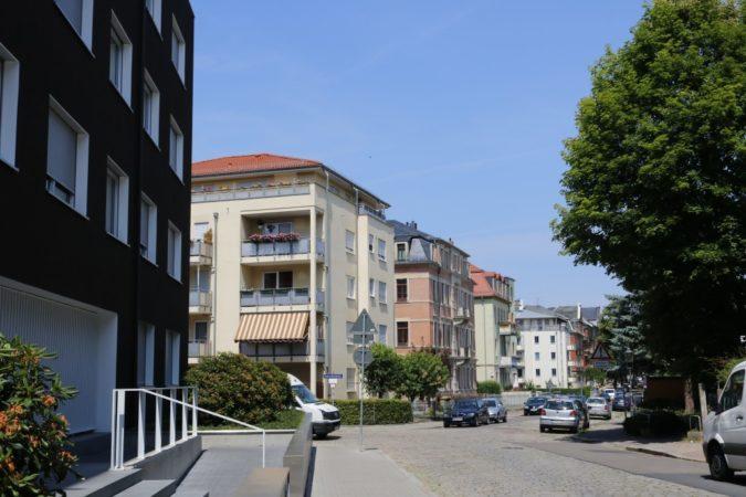 Einige Wohnhäuser in Löbtau.