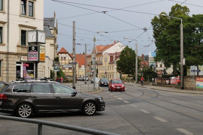 Laubegast ist gut an das Verkehrsnetz angebunden.