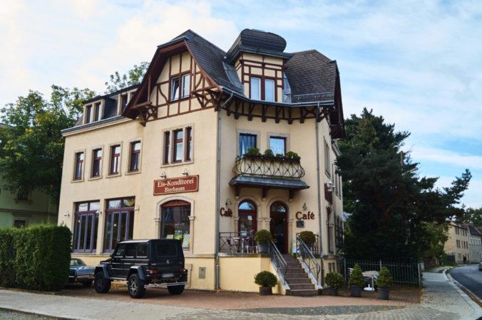 Café Bierbaum auf der Sosaer Straße.