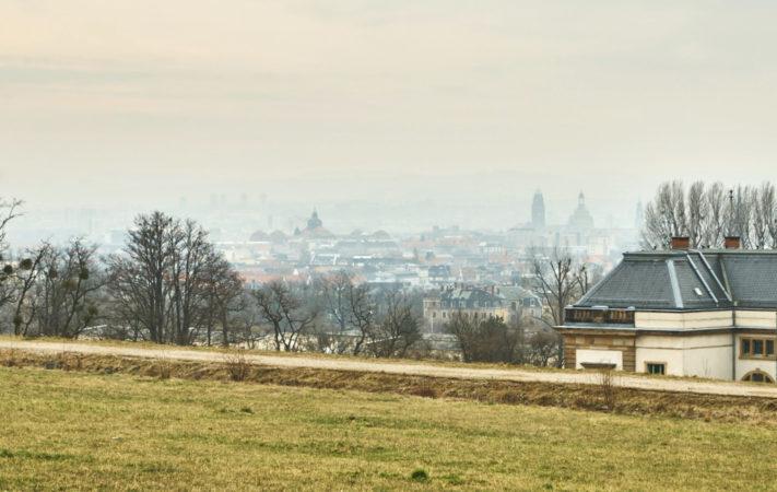 Am Aussichtspunkt Hellerblick in Hellerberge