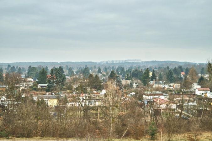 Aussicht auf die Hellersiedlung am Hellerblick in Hellerberge