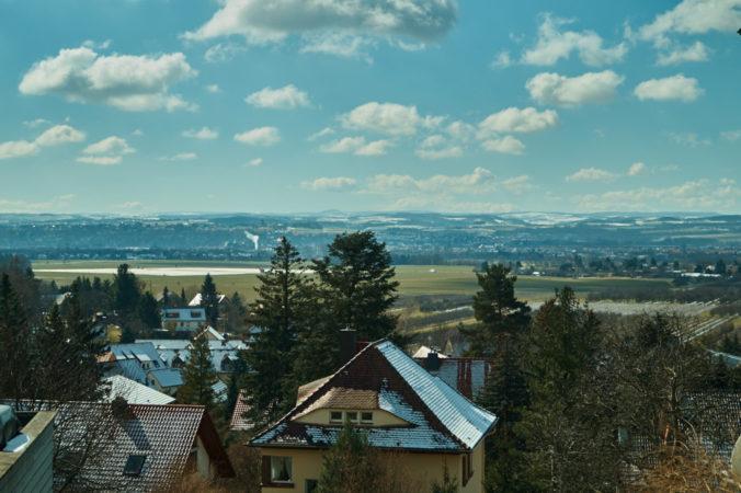 Ausblick in Oberpoyritz