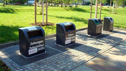 Dresden zeichnet sich durch ein besonders schönes Werstoff-Container-Design aus | Foto: Stadt Dresden