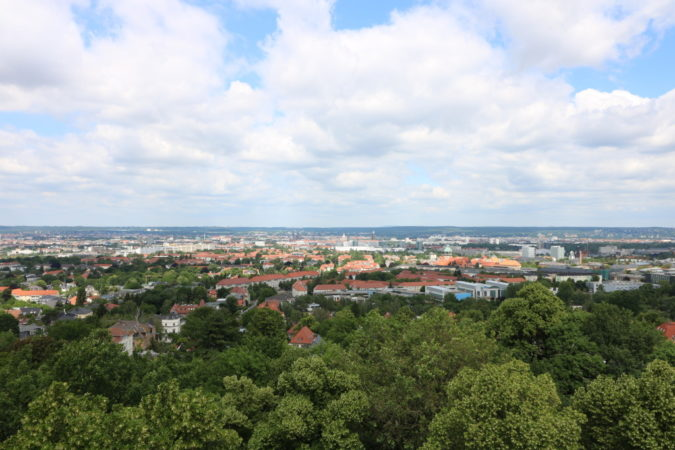 Aussicht des Fichteturms in Plauen
