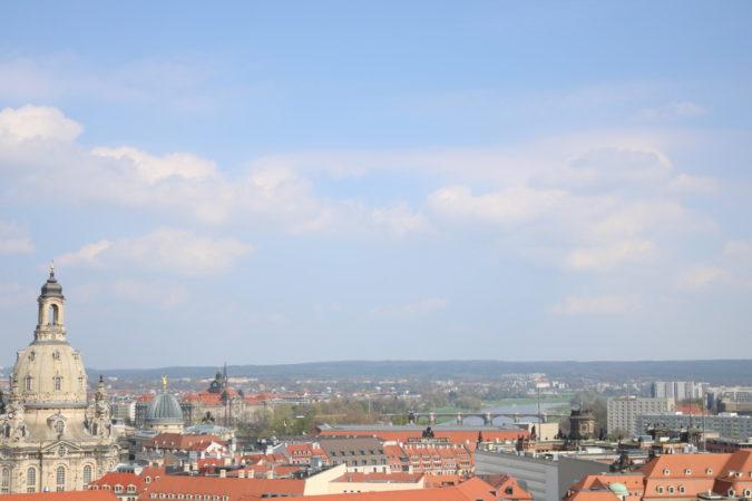 Aussicht der Kreuzkirche in Dresden