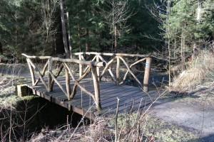 Brücke über die Prießnitz am Sächsischen Jakobsweg