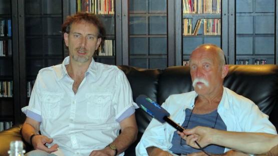 Hoffen auf eine Lösung Tonne-Chef  Steffen Wilde und Schlagzeuger Günter Sommer.