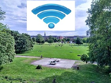 Im Alaunpark soll das Piraten-WLAN-Netz starten. Foto: Christian Werner. CC-Lizenz, bearbeitet (hw)