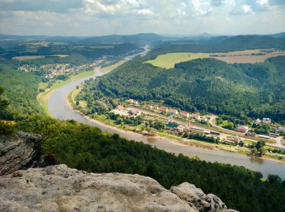 Blick vom Lilienstein Richtung Osten