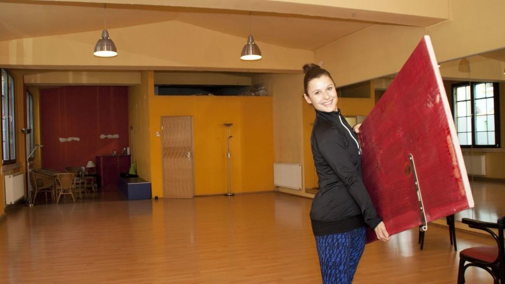 Noch viel zu tun: Claudia Seidel in ihrem neuen Tanz- und Fitness-Studio