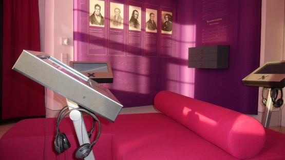 Musikgenuss auf pinken Sofas im Jagdschloss Graupa