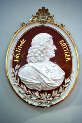 Bildnis von Boettger, Erfinder des europ. Porzellan