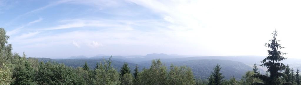 Panorama vom Bernhardstein