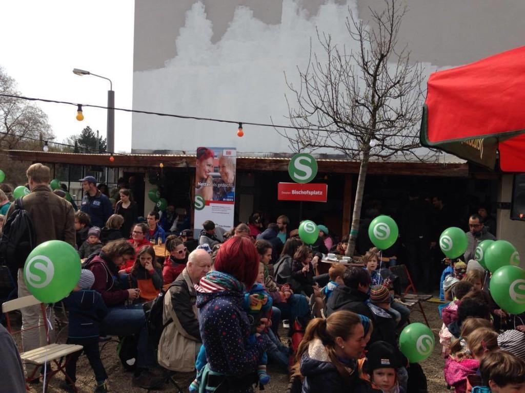 """Feierliche Einweihung auf dem Dach des Cafés """"TB-Terrasse"""""""