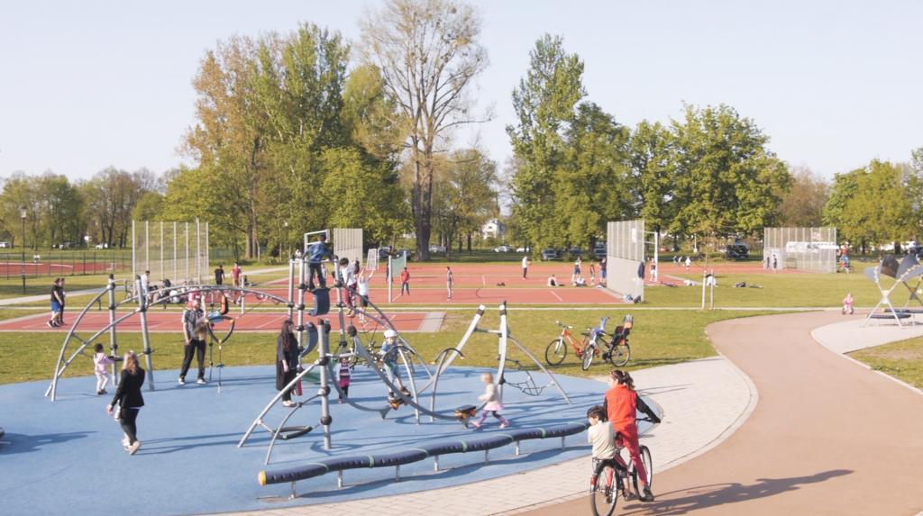 Das Ostragehege ist der ideale Treffpunkt für Familien und Sportbegeisterte