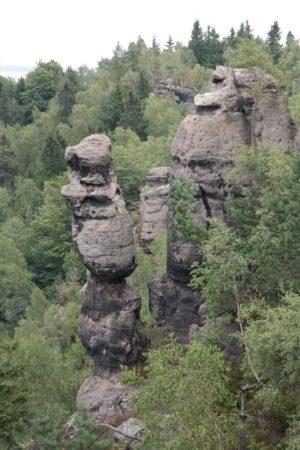 Hennigsäule in der Jonsdorfer Felsenstadt