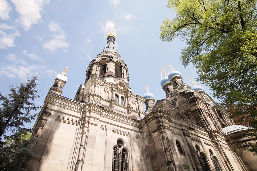 Ein echter Hingucker – die russisch-orthodoxe Kirche an der Fritz-Löffler-Straße