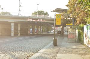 S-Bahn Haltestelle Bischhofsplatz im Hechtviertel