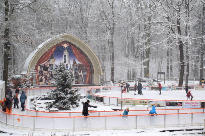 Konzertplatz im Waldpark mit Eisbahn