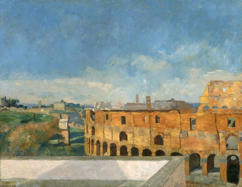 Max Klinger, Das Kolosseum in Rom, 1888 Albertinum/Galerie Neue Meister, Staatliche Kunstsammlungen Dresden, Gal.-Nr. 2460 B Foto: Ursula-Maria Hoffmann