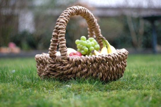 Picknick immer mit prall gefüllten Korb