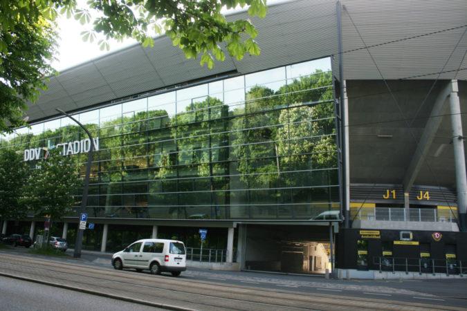 Das Dynamostadion in Dresden