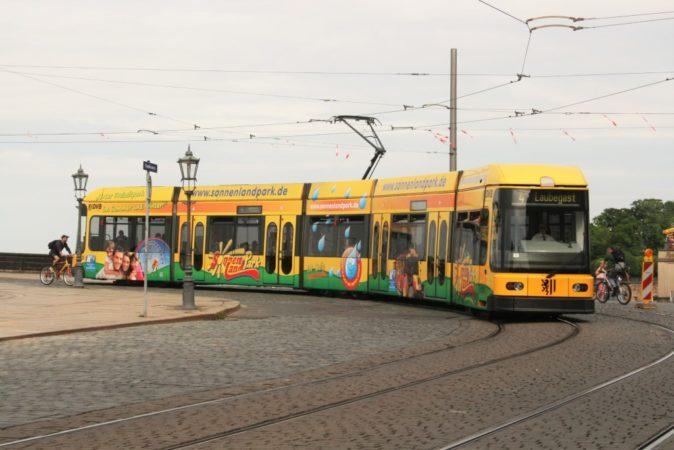 Die bunte Straßenbahnlinie 4