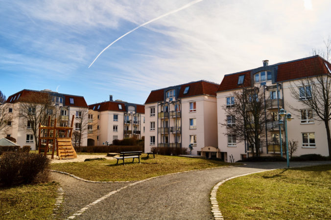 Kinderfreundlich gestaltete Wohnsiedlung in Laubegast