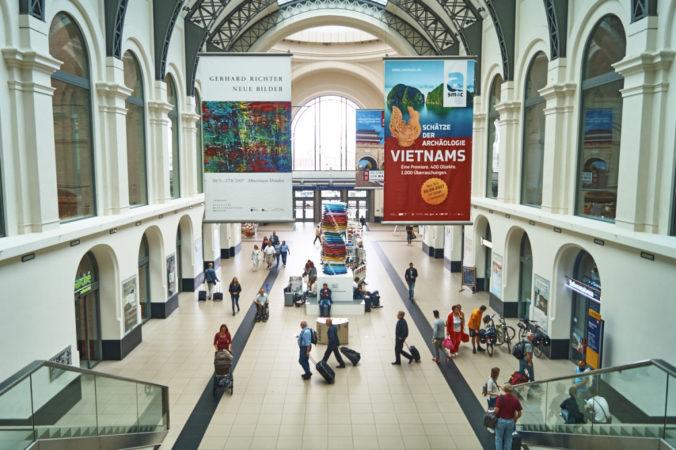 Der Dresdner Einkaufsbahnhof.