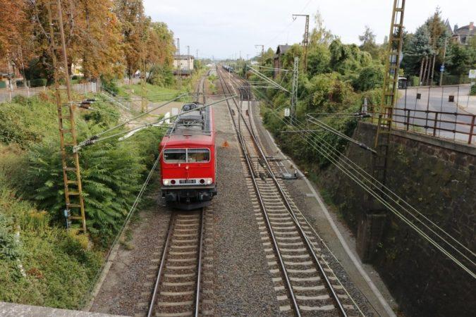 Die Bahnstrecke Cossebaude