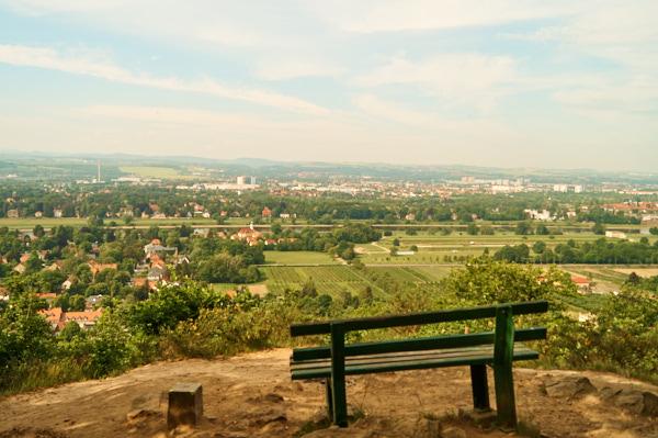 Aussichtspunkt Zuckerhut in Stadtteil Dresden Hosterwitz