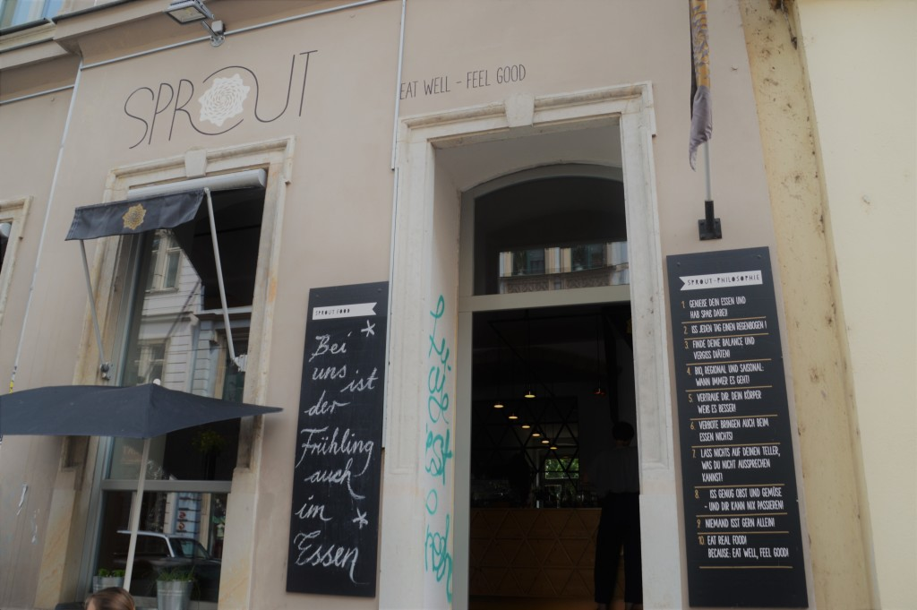 Im Sprout trifft moderne Einrichtung auf fantastische Küche und freundliches Personal.