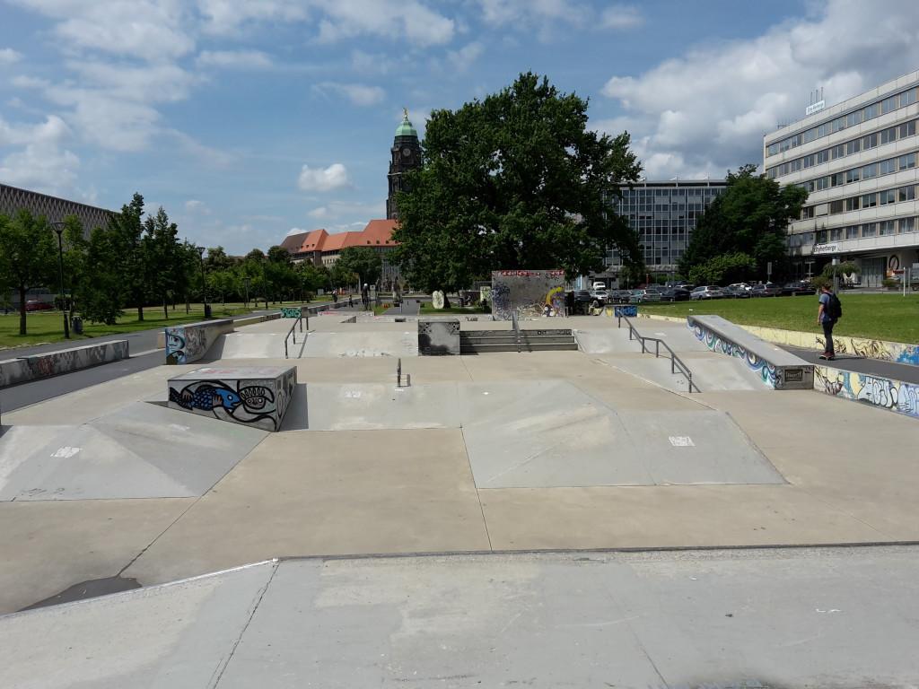 Der Skatepark an der Lingnerallee.