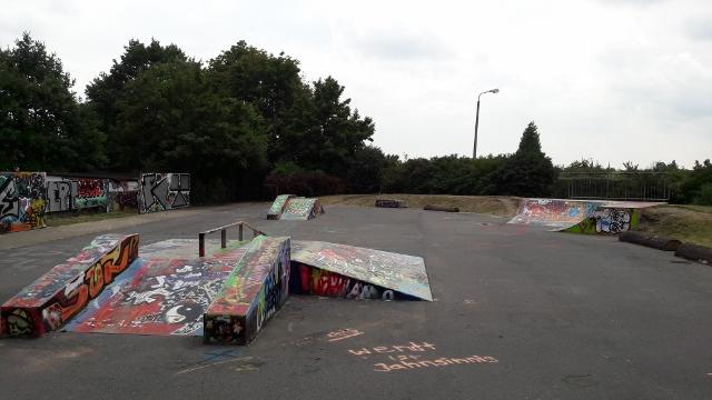 Skaten in Dresden Tolkewitz.